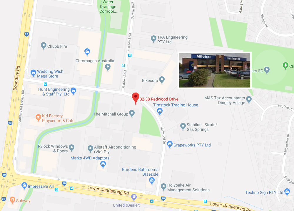 Mitchell Group Head office map pic